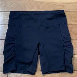 Lululemon black biker shorts size 2